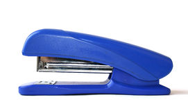Stapler. The blue stapler over white Stock Image