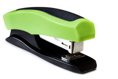 Stapler. Green and black stapler, isolated on white with soft shadow Stock Photo