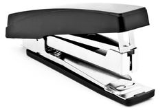 Stapler. Black stapler isolated on white stock photo