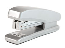 Stapler. Nice designed metallic, silver stapler (isolated Royalty Free Stock Photo