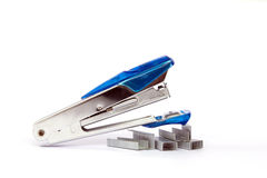The stapler. Isolated background is tools education equipment Stock Photos