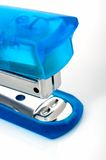 Stapler. A blue stapler over a white background royalty free stock photos