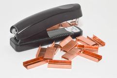 Stapler clip royalty free stock image