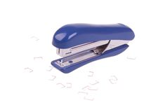 Stapler with clips Royalty Free Stock Photography