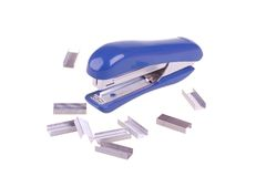 Stapler with clips Stock Photography