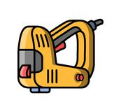 Stapler construction electric tool. Flat style icon of stapler. Vector illustration Stock Images