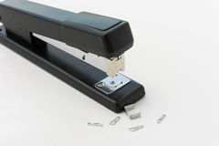 Stapler and filling. On white background royalty free stock images