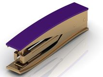 Stapler with a lilac handle Royalty Free Stock Images