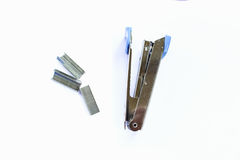 Stapler max silver white metal Royalty Free Stock Photos