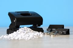 Stapler for office work on the table. Stationery item. Office su. Stapler for office work on the table royalty free stock images