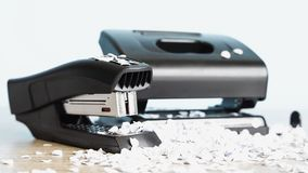 Stapler for office work on the table. Stationery item. Office su. Stapler for office work on the table royalty free stock image