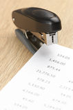 Stapler and pages Stock Image