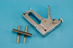 Stapler pin clip tool  part fasten material Stock Images