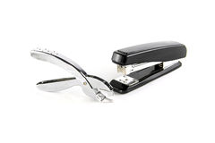 Stapler and staple remover Stock Photo