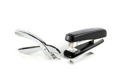 Stapler and staple remover. On white background Stock Photo