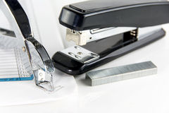 Stapler and staple remover Stock Images