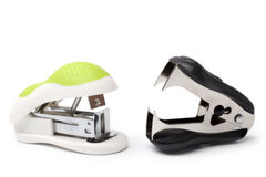 Stapler and staple remover. On white background Stock Photo