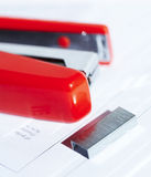 Stapler with staples Stock Photos