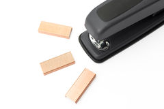 Stapler and staples Royalty Free Stock Images