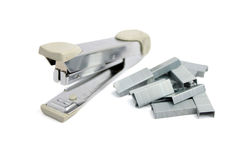 Stapler and staples Stock Images