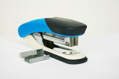 Stapler with staples on a light background Stock Photography