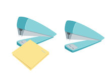 Stapler staples sheets Stock Photography