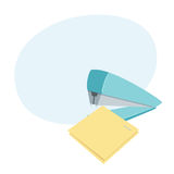 Stapler staples sheets Royalty Free Stock Photography