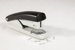 Stapler with staples. Staple with staples in total view Stock Photos