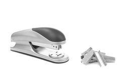 Stapler and supplies Royalty Free Stock Photos