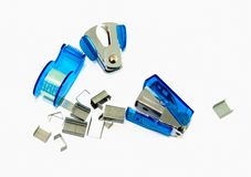 Stapler , tape and stapler remover  . Royalty Free Stock Photos