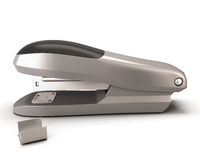 Stapler  on white background. Royalty Free Stock Photography