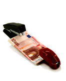 Staplers and money Stock Photography