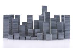 Staples arregló formar horizonte de la ciudad Fotografía de archivo