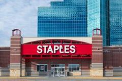 Staples-Bürozubehör-Speicher Lizenzfreie Stockfotografie