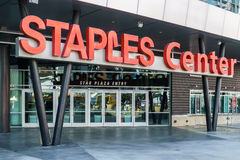 Staples Center arena Entrace Royaltyfri Bild
