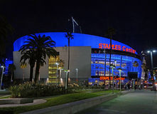 Staples Center i Los Angeles, CA royaltyfri bild