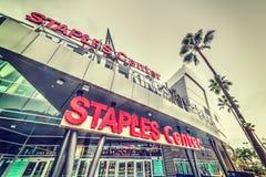 Staples Center i i stadens centrum L A Fotografering för Bildbyråer