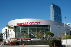 Staples Center in Los Angeles. Photo of the Staples Center in Downtown Los Angeles Stock Images