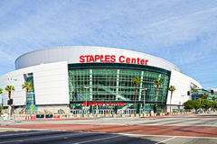 Staples Center In Los Angeles. Los Angeles, USA - January 24, 2012: Staples Center located in downtown Los Angeles, is part of the LA Live Performance Complex Stock Photo
