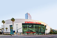 Staples Center At Sunrise In Los Angeles. Los Angeles, USA - December 6, 2011: Staples Center with The Marriott in the background as part of the larger LA Live Royalty Free Stock Photography