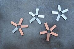 Staples, forme delle stelle Fotografia Stock Libera da Diritti
