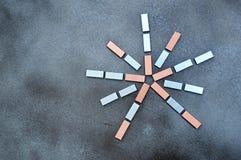 Staples, gra główna rolę dwa koloru Zdjęcia Stock