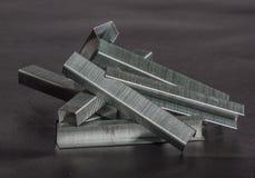 Staples for industrial staple Stock Photo