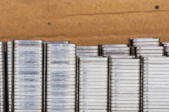 Staples. Many staples in the box Royalty Free Stock Photo