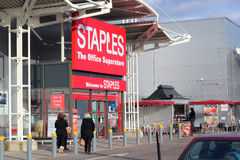 Staples, office equipment store. Royalty Free Stock Images