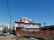 Staples Office Supplies store and Billboard above it saying Royalty Free Stock Image