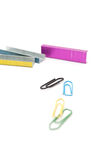 Staples and Paperclips Stock Image