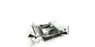 Staples per la cucitrice meccanica Fotografie Stock Libere da Diritti