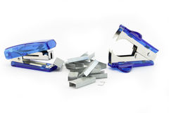 Staples removed and stapler Royalty Free Stock Image