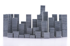 Staples schikte om stadshorizon te vormen Stock Fotografie